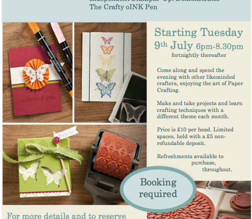 Craft Classes at Dunelm Mill, Huntingdon