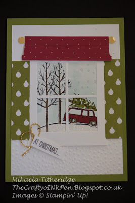 White Christmas by Mikaela Titheridge www.thecraftyoinkpen.stampinup.net