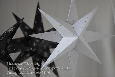 Winter Wonderland Paper Stars with Free Tutorial