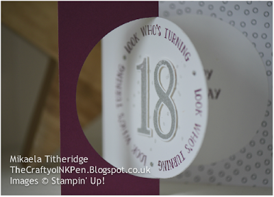 Number of Year's marks an 18th Birthday using Stampin' Up! Products