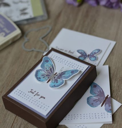 Watercolor Wings Note card Gift Box