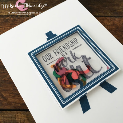 Friendship is a work of art with a Shaker Painter's Palette card