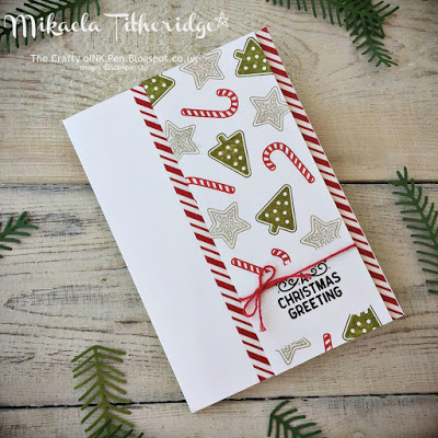 Simple Candy Cane Christmas Card Idea