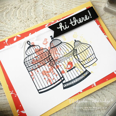 Builder Birdcage Hi There card