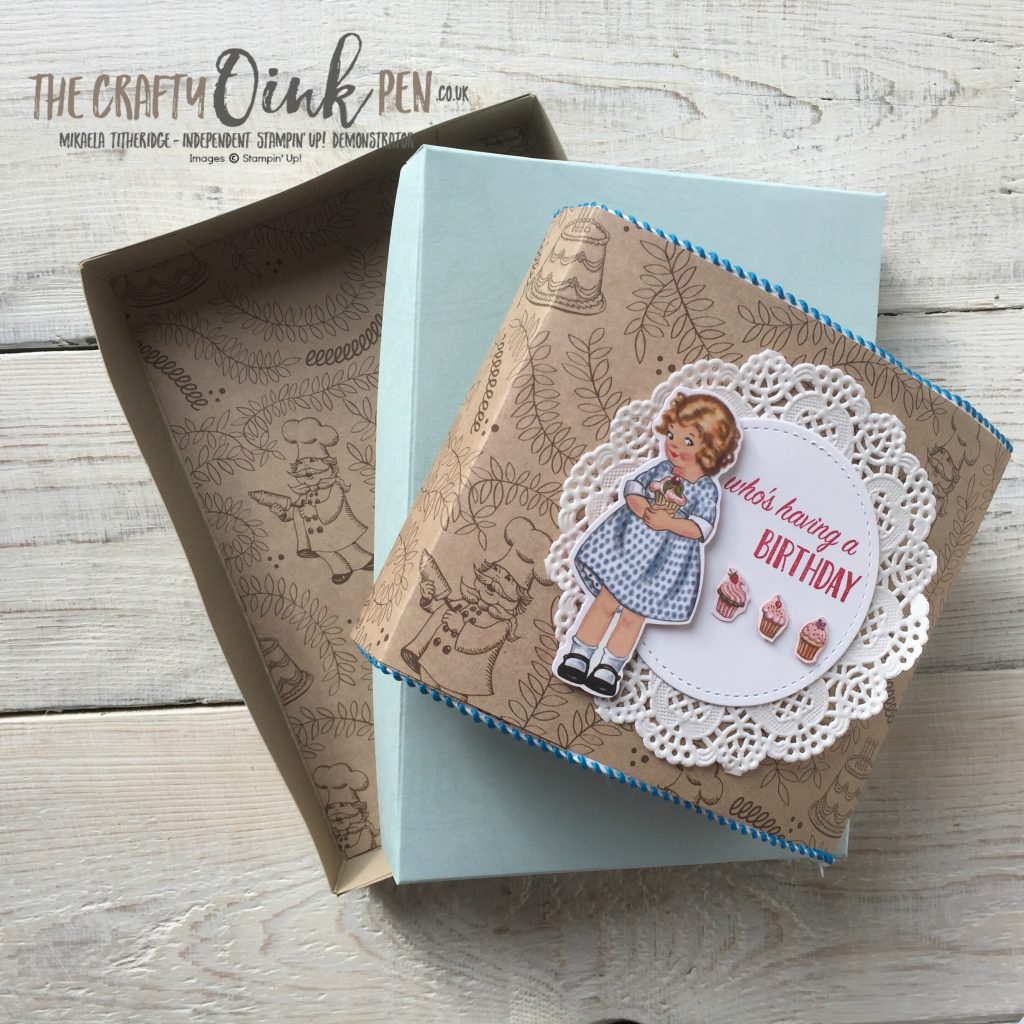 Mikaela Titheridge, UK Independent Stampin' Up! Demonstrator, The Crafty oINK Pen, Birthday Memories, Birthday Delivery Gift Box of Birthday Cards