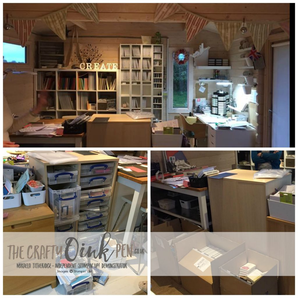 Mikaela Titheridge, UK Independent Stampin' Up! Demonstrator, The Crafty oINK Pen, Craft Room Makeover
