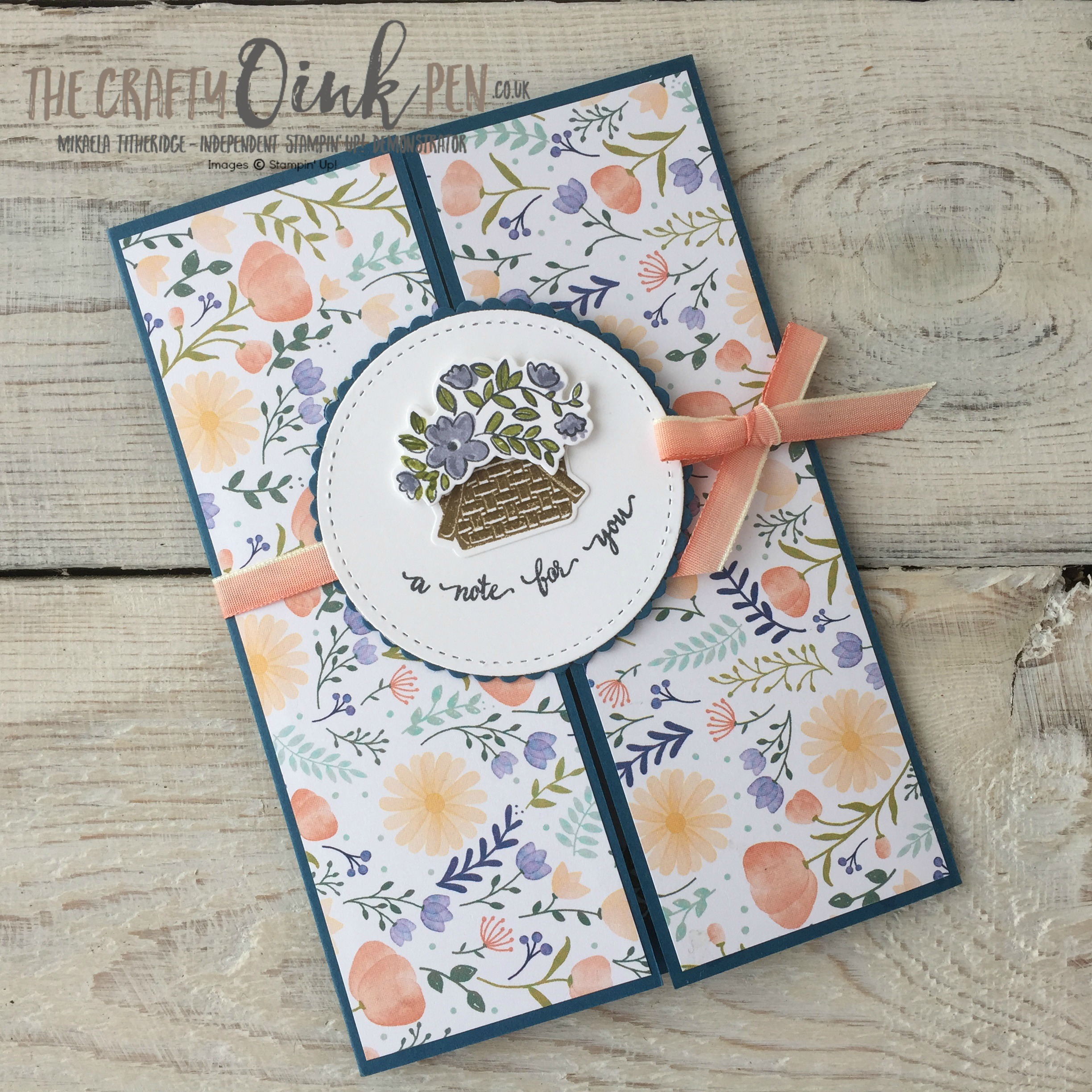 Bike Ride with Delightful Daisy by Mikaela Titheridge, Independent UK Stampin' Up! Demonstrator, The Crafty oINK Pen