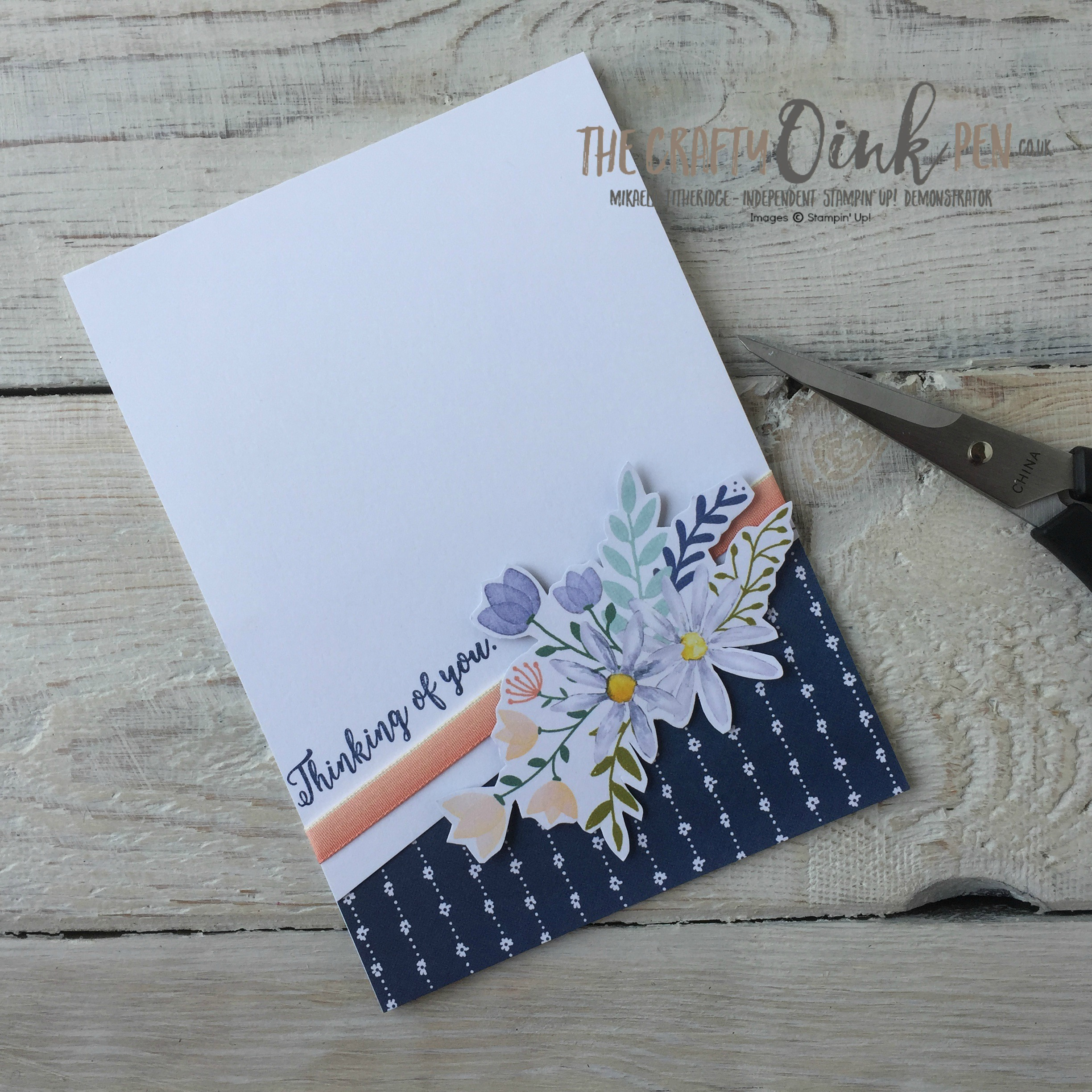 Cut a Delightful Daisy by Mikaela Titheridge, Independent Stampin' Up! Demonstrator, The Crafty oINK Pen