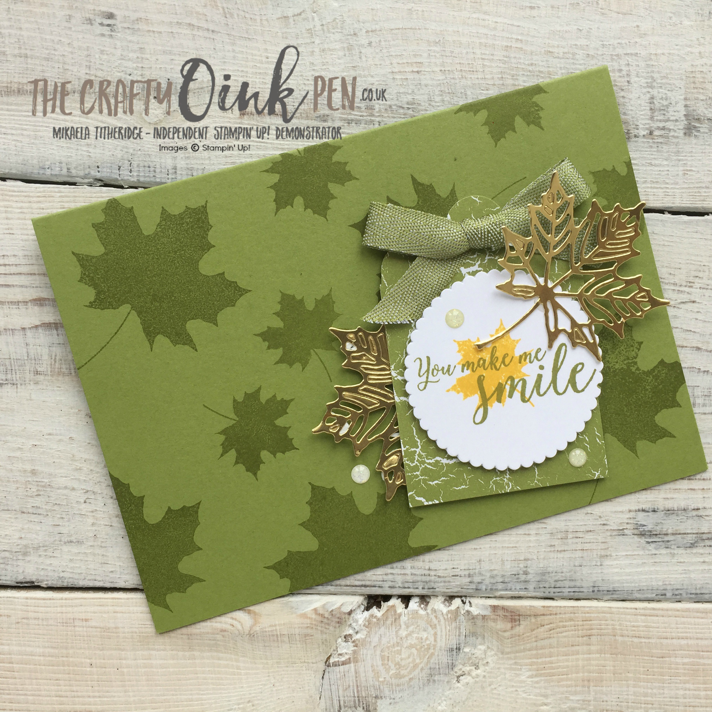 Color Theory brings Autumn Leaves by Mikaela Titheridge, Independent Stampin' Up! Demonstrator, The Crafty oINK Pen