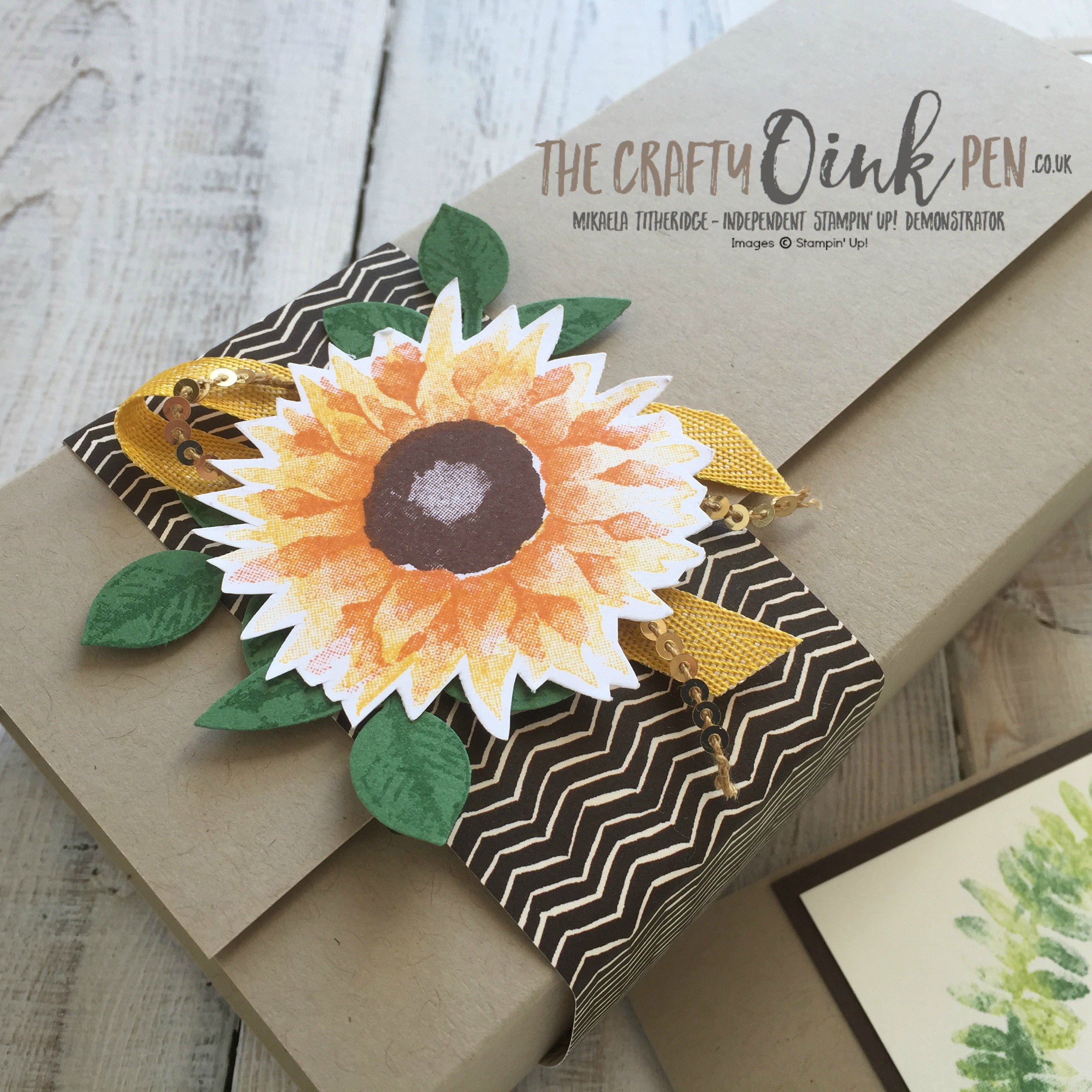 Painted Harvest Gift Box and Cards by Mikaela Titheridge, UK Independent Stampin' Up! Demonstrator, The Crafty oINK Pen
