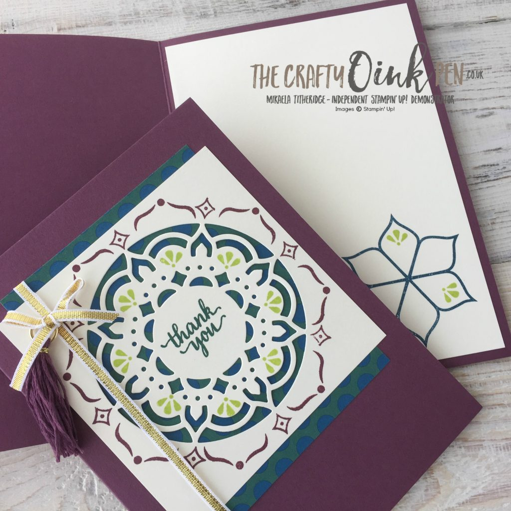 Eastern Beauty and Medallion for Creative Challenge Winners by Mikaela Titheridge, The Crafty oINK Pen, UK Stampin' Up! Demonstrator