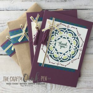 Eastern Beauty Medallion card and gift set for my Team by Mikaela Titheridge, The Crafty oINK Pen, UK Stampin' Up! Demonstrator