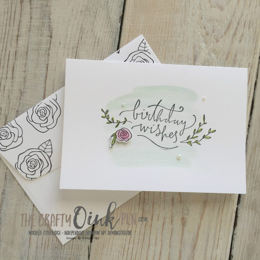 Stamping on the Happiest of Days by Mikaela Titheridge, The Crafty oINK Pen, Stampin' Up! Demonstrator