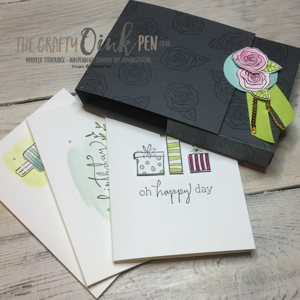 Stamping on the Happiest of Days with Mikaela Titheridge, The Crafty oINK Pen, UK Stampin' Up Demonstrator