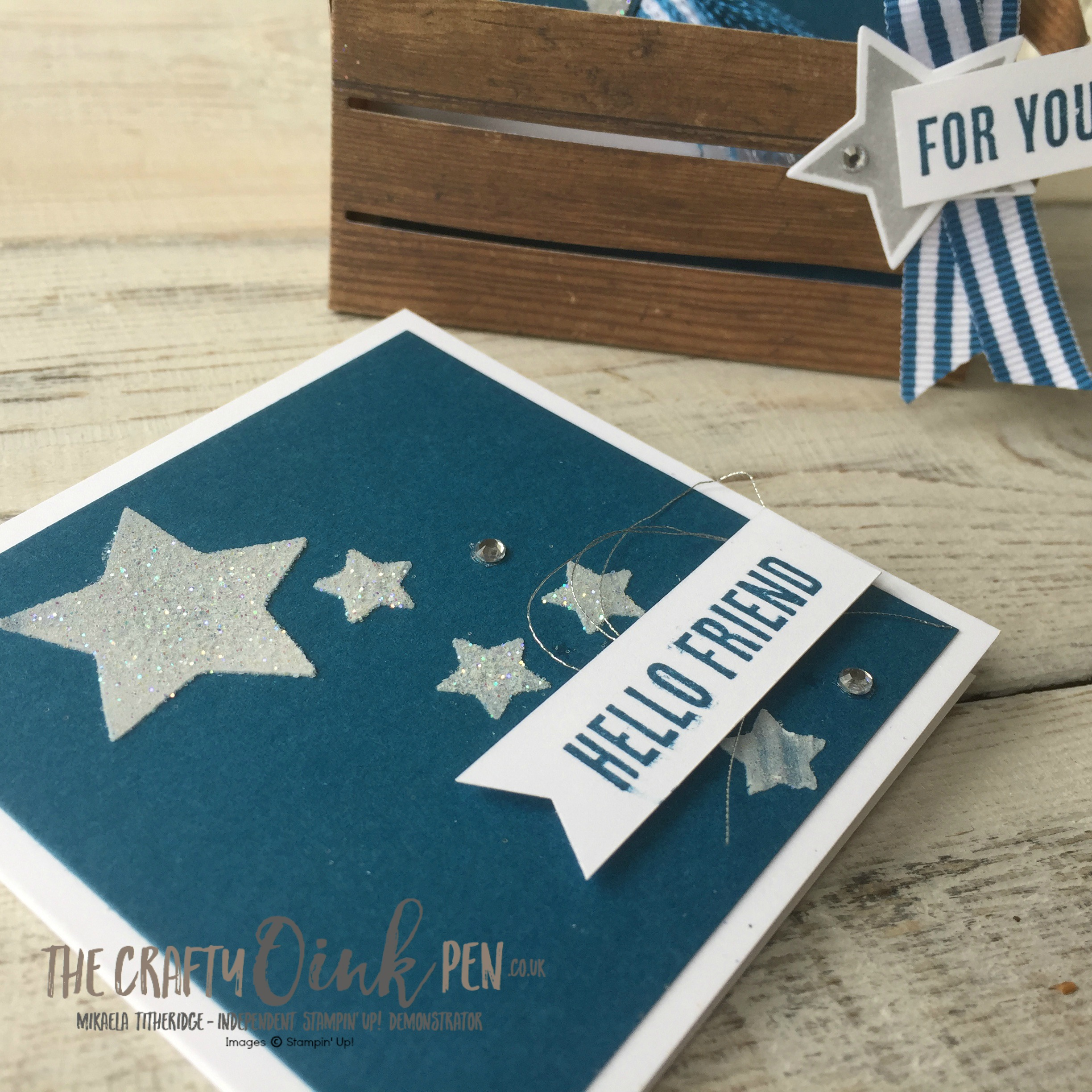 Mikaela Titheridge, Independent Stampin' Up! Demo, The Crafty oINK Pen stares Tricks of the Trade with Wood Words