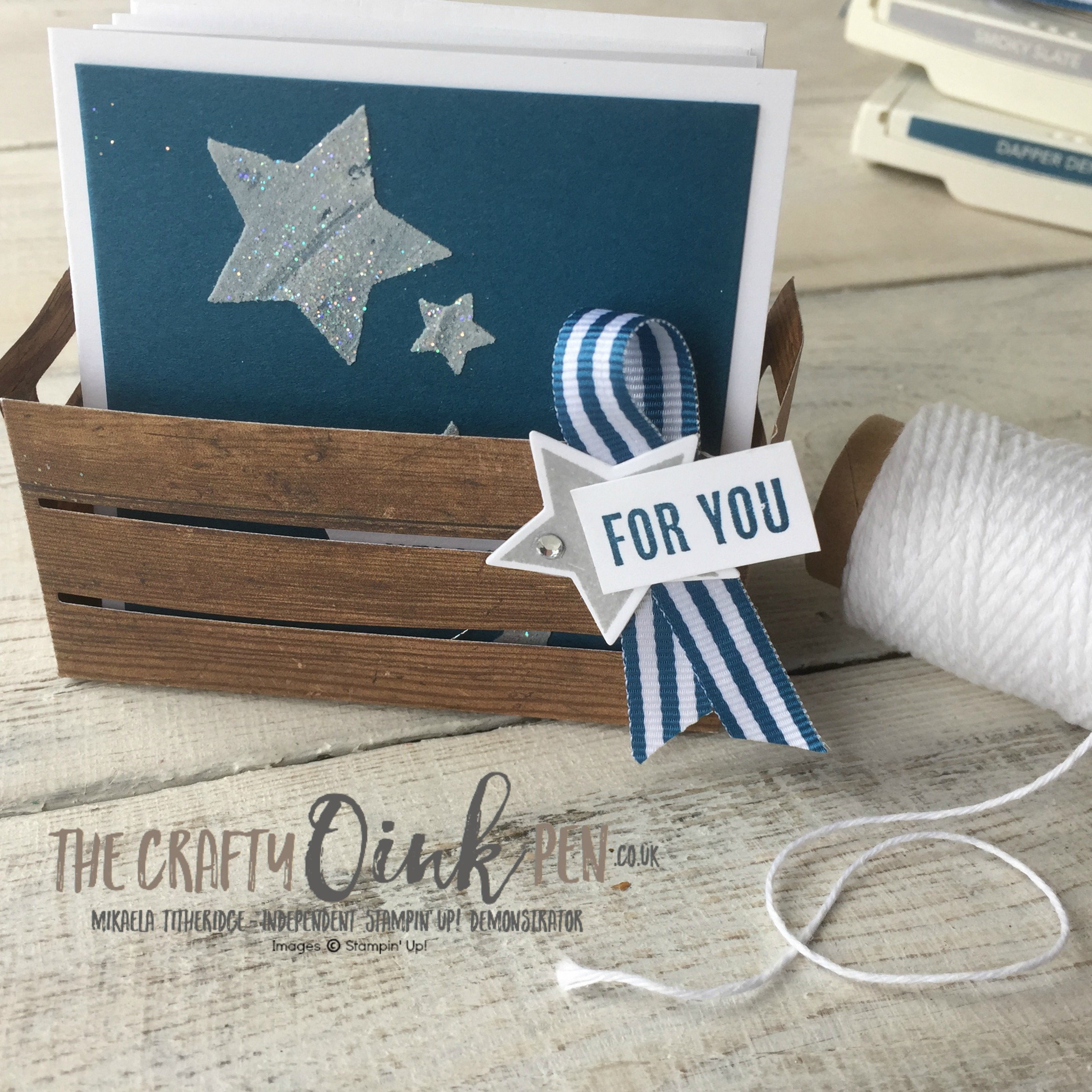 Tricks of the Trade by Mikaela Titheridge, Independent Stampin' Up! Demonstrator, The Crafty oINK Pen and the Creation Station Blog Hop Design Team