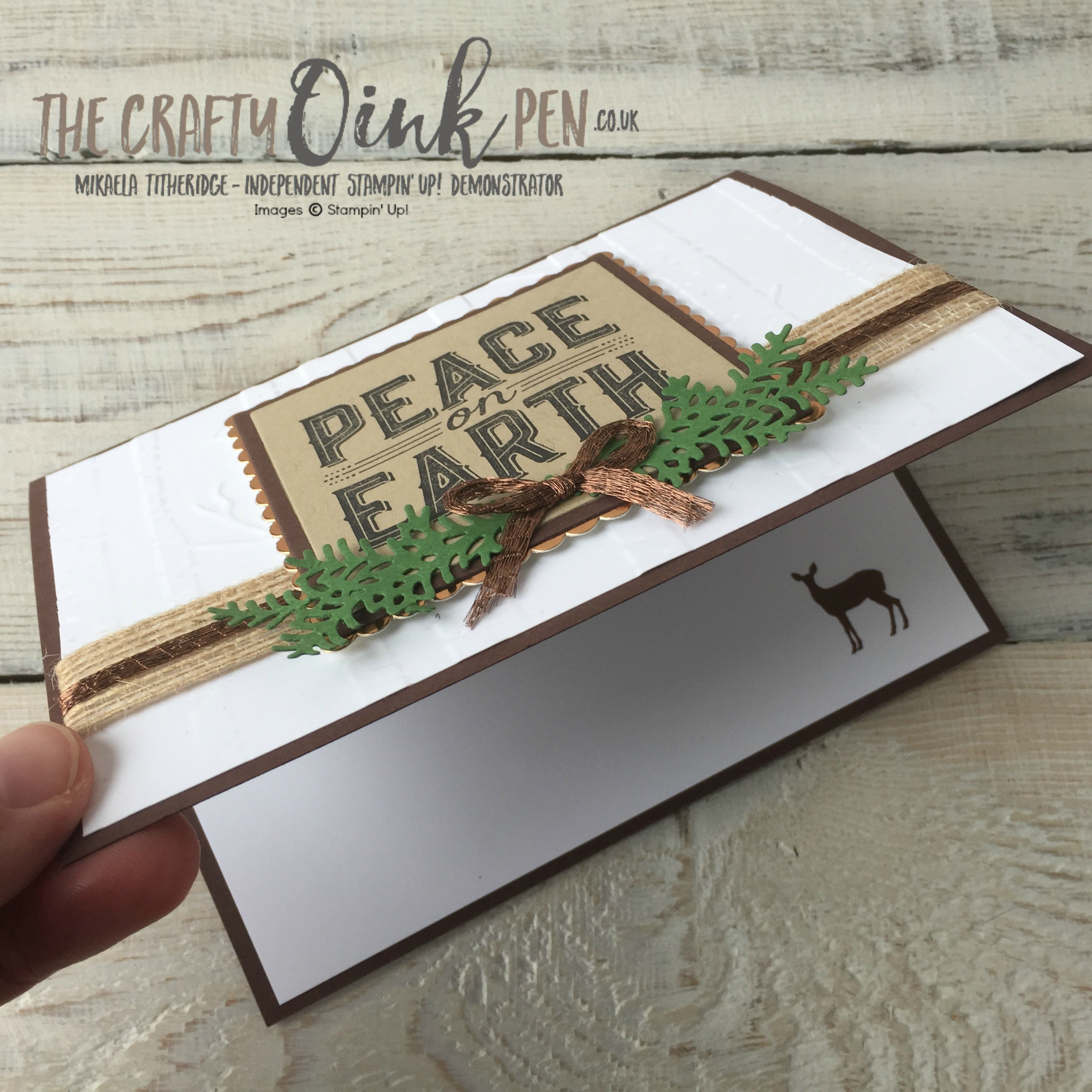 Mikaela Titheridge, The Crafty oINK Pen, UK Stampin' Up! Demonstrator brings you Carols of Christmas