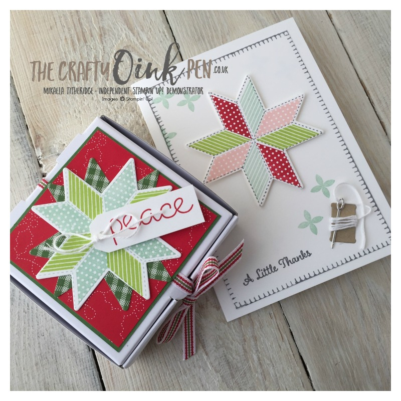 Mini Pizza Boxes coupled with Quilted Christmas by Mikaela Titheridge, The Independent Stampin' Up! Demonstrator, The Crafty oINK Pen