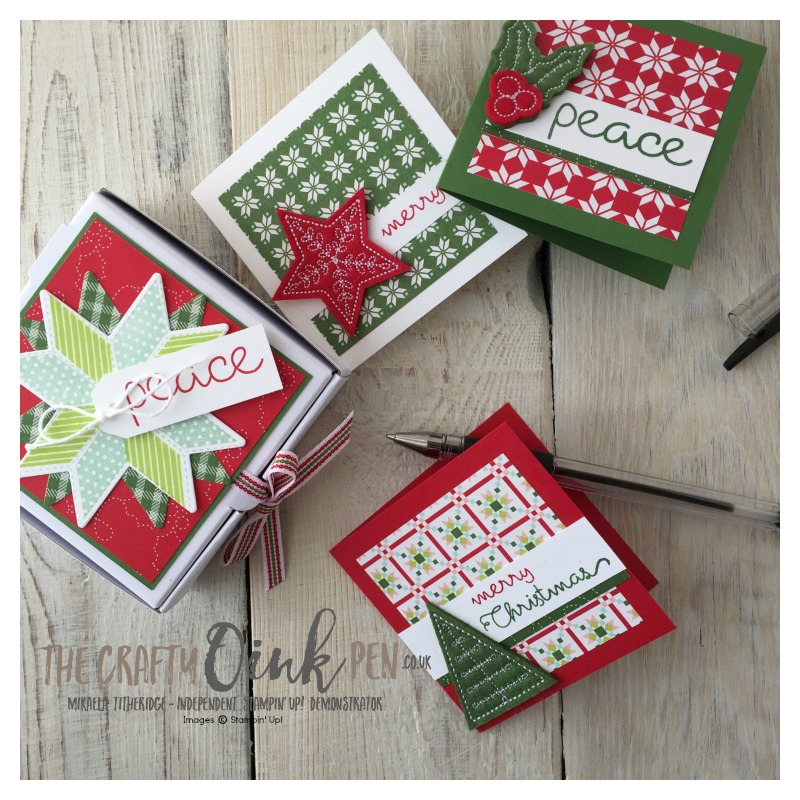 Mikaela Titheridge, The Crafty oINK Pen, UK Stampin' Up! Demo brings you Christmas Quilt