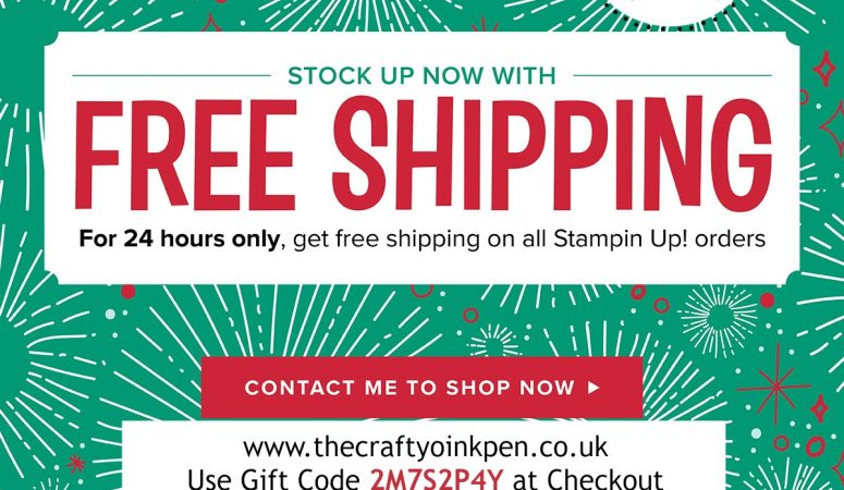 24 Hours of FREE Delivery on Stampin' Up! Products