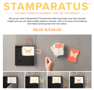 UK #6 Stampin' Up! Demonstrator, The Crafty oINK Pen brings you the Stamparatus