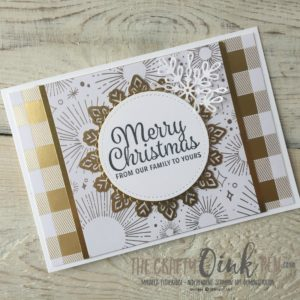 Mikaela Titheridge, #6 UK Stampin' Up! Demonstrator, The Crafty oINK Pen brings you Snowflake Sentiments