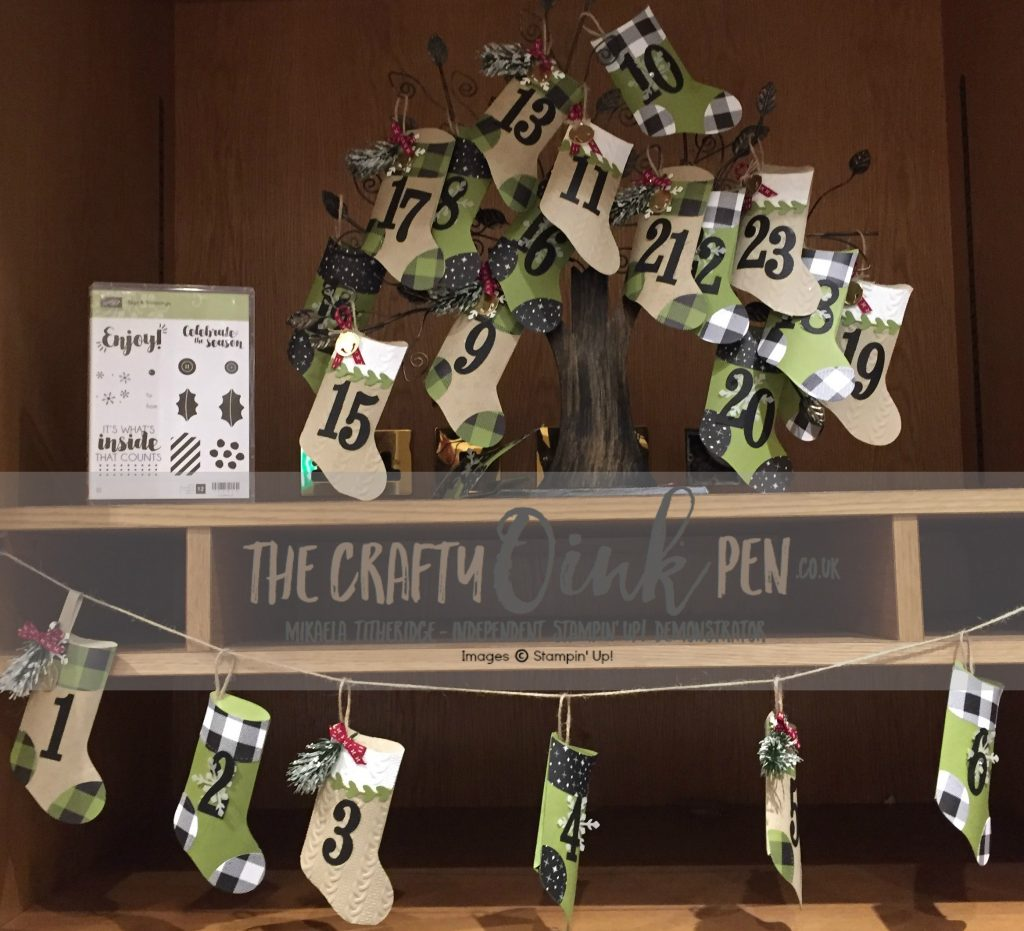 UK Demo Mikaela Titheridge, makes an Advent Calendar from Tags & Trimmings Bundle