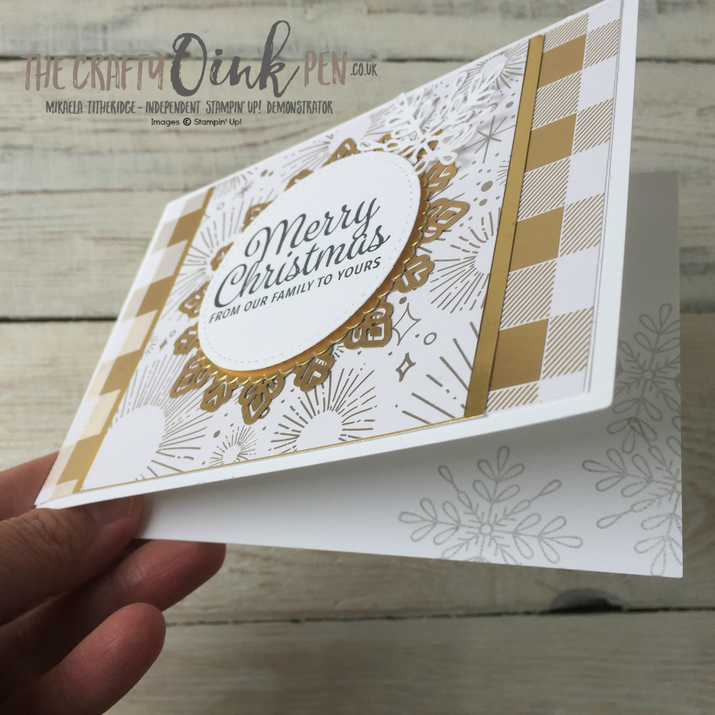 #6 UK Stampin' Up! Demonstrator, The Crafty oINK Pen brings you Christmas cards a plenty