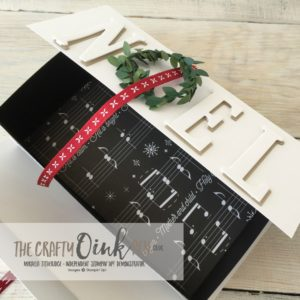 Mikaela Titheridge, Independent Stampin' Up! Demonstrator, The Crafty oINK Pen makes this gorgeous Noel Gift Box for Chocolates.