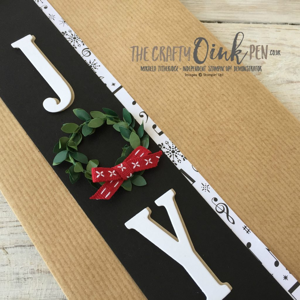 Kraft Gift Bag for Christmas with the Joy of a Wreath by Mikaela Titheridge, UK Demo