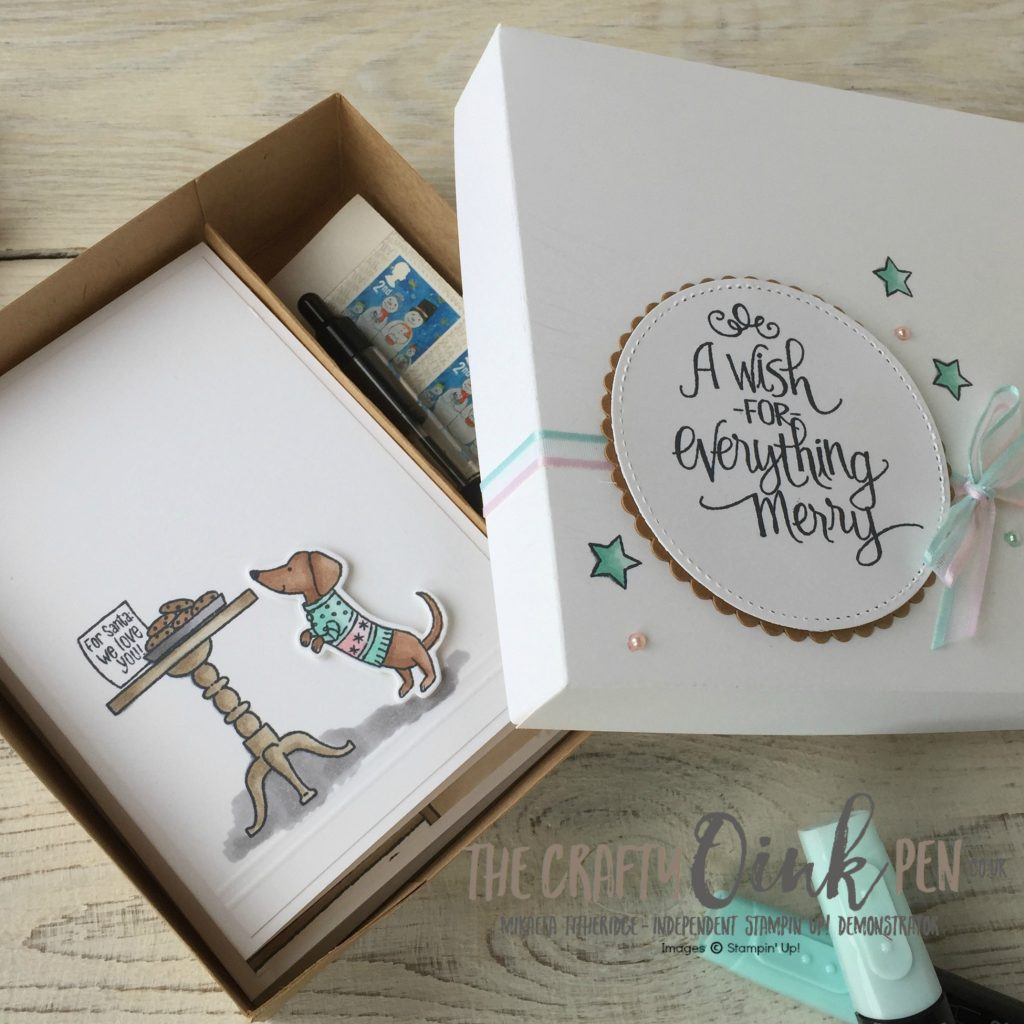 Ready for Christmas by Mikaela Titheridge, The Crafty oINK Pen. Stamping Sunday Blends Blog Hop