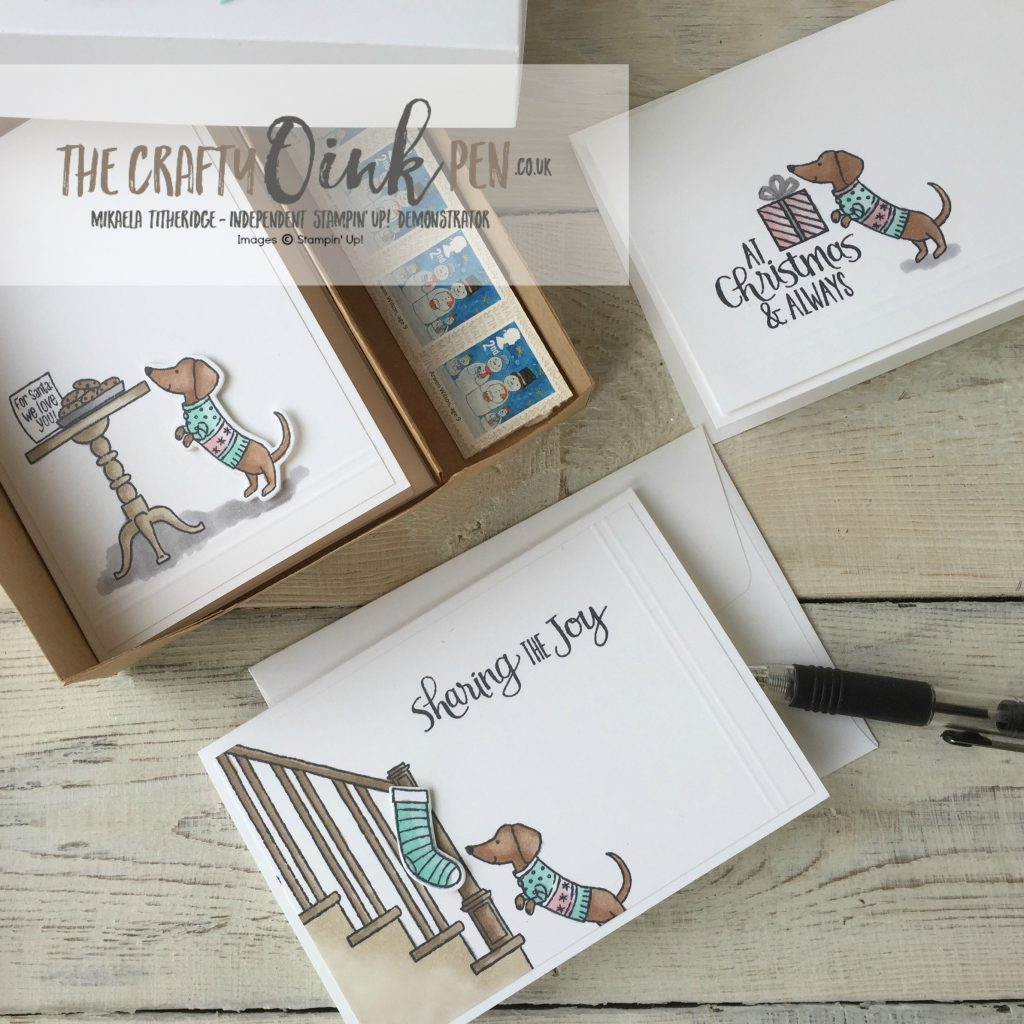 UK Stampin' Up! Demonstrator, The Crafty oINK Pen, Mikaela Titheridge, brings you Ready for Christmas Blends
