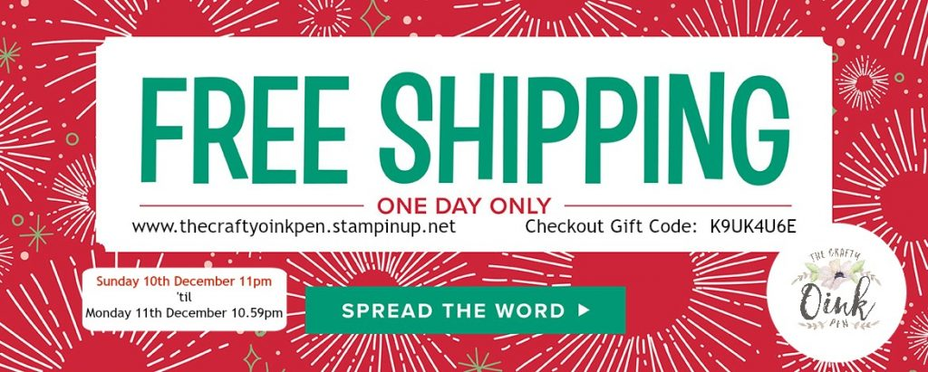 Free Postage with Mikaela Titheridge, Independent Stampin' Up! Demonstrator, The Crafty oINK Pen
