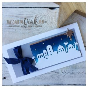 Mikaela Titheridge, The Crafty oINK Pen, Independent Stampin' Up! Demonstrator. Night in Bethlehem card and candle class