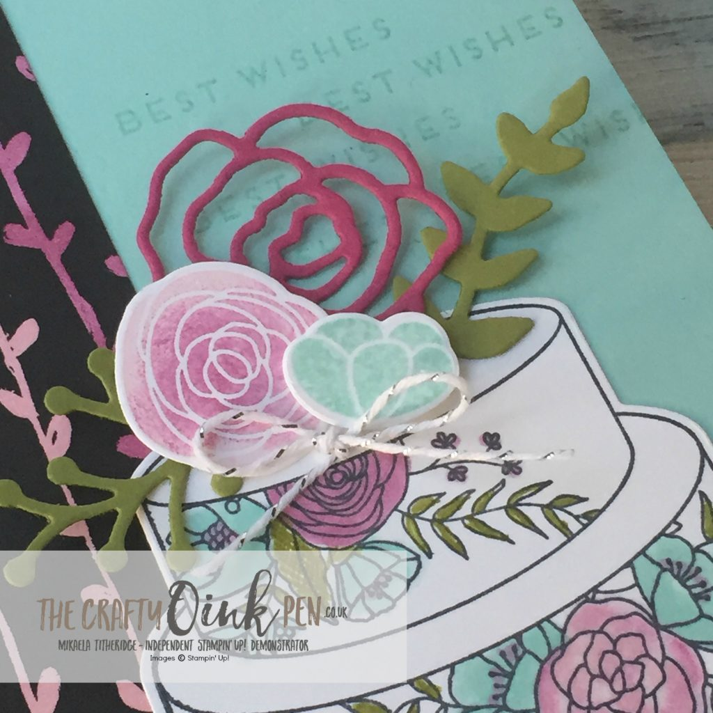 UK Stampin' Up! Demonstrator, Mikaela Titheridge, The Crafty oINK Pen offers you a slice of Cake Soiree