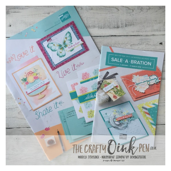 Mikaela Titheridge, The Crafty oINK Pen, #6UK Stampin' Up! Demo Catalogue and Promotional flyer