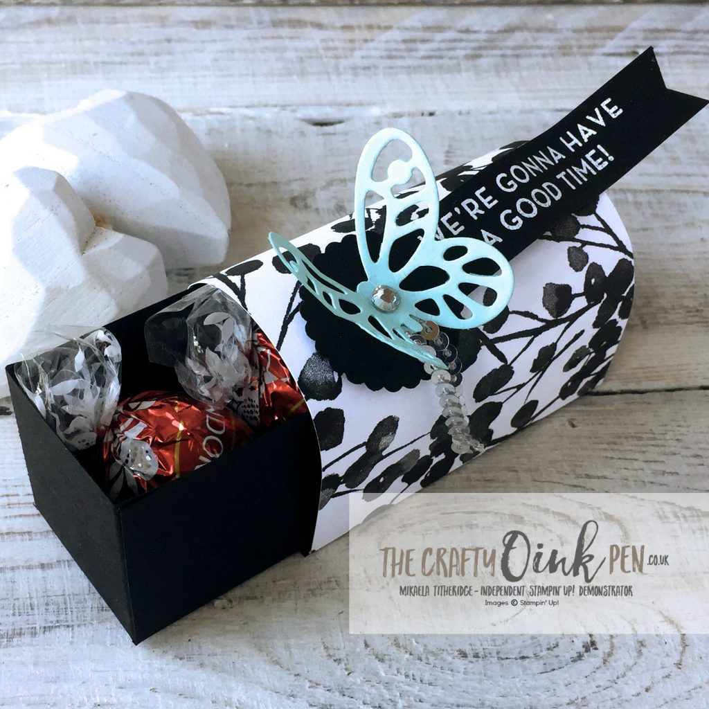 Lindor Chocolate Box Treat Holder by Mikaela Titheridge, The Crafty oINK Pen, Stampin' Up! Demonstrator UK