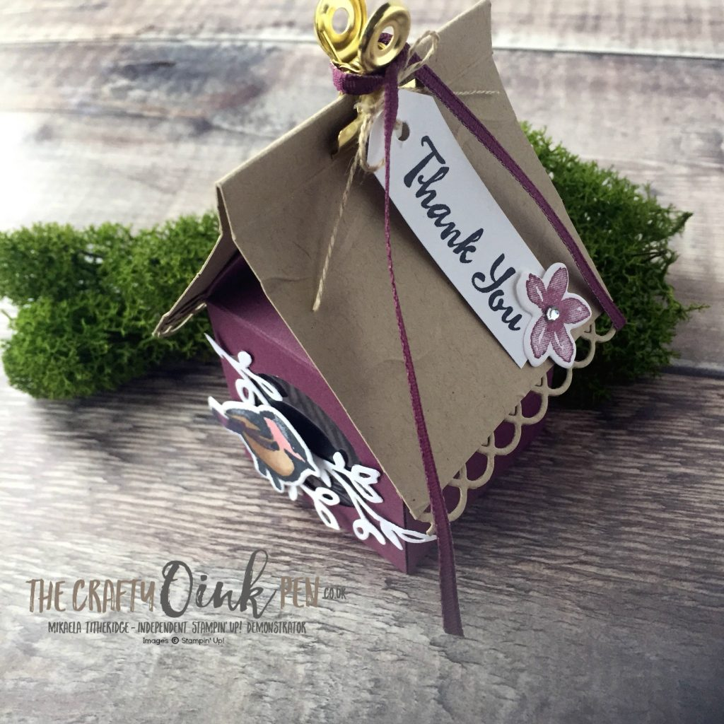 Stamp 'N Hop Petal Palette Bird Box Tutorial Roof by Mikaela Titheridge, The Crafty oINK Pen, #6UK Independent Stampin' Up! Demonstrator. Supplies available through my online store 24/7