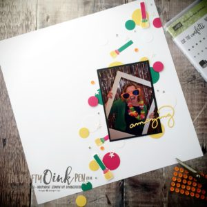 Mikaela Titheridge, The Crafty oINK Pen, UK Stampin' Up! Demo, Picture Perfect Birthday Scrapbook page