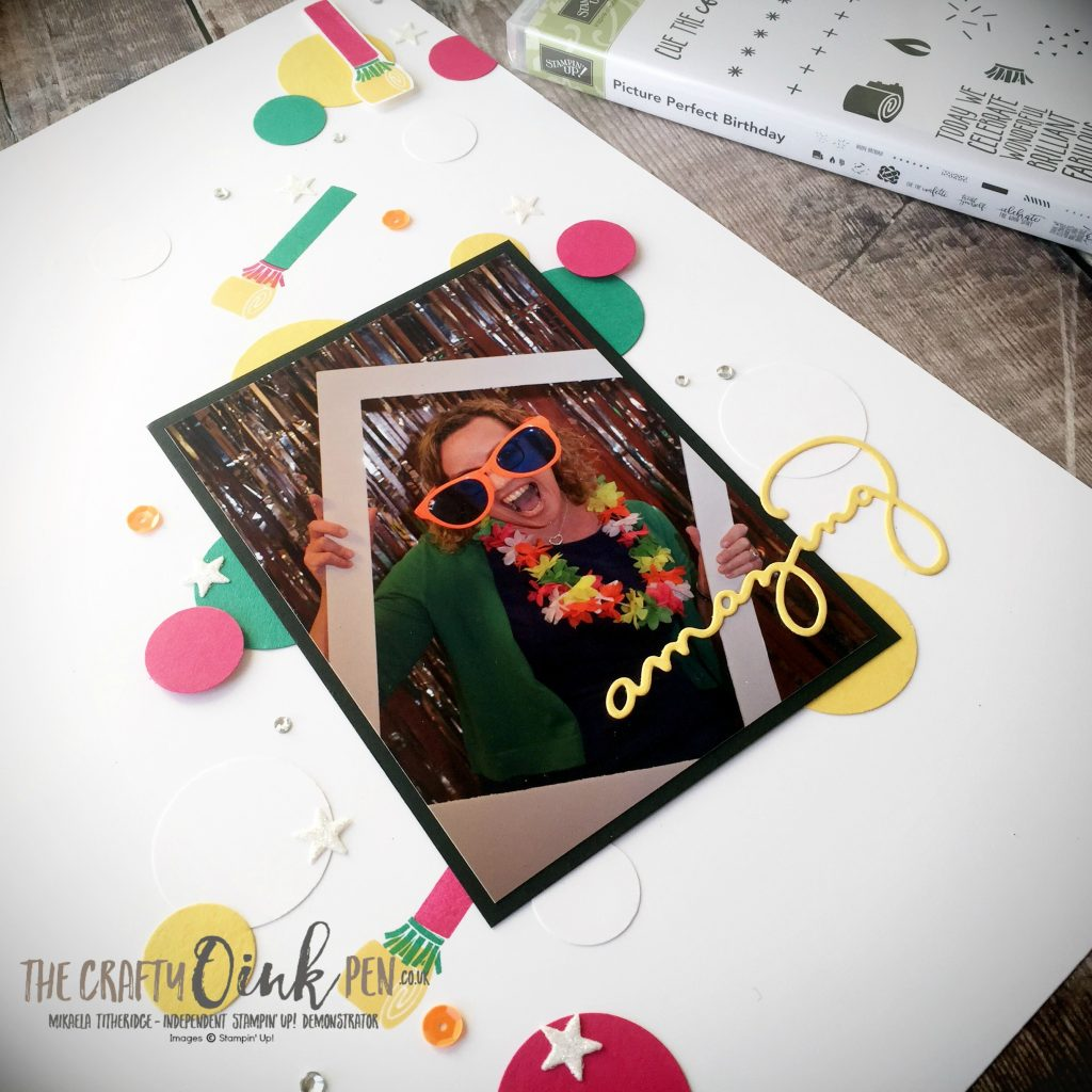 UK Stampin' Up! Demonstrator, The Crafty oINK Pen. His and Hers themed Blog hop and Scrap book pages