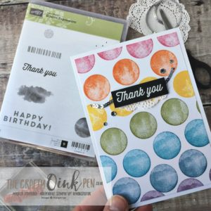 Stampin' Up! FREE Products were used to make this Eclectic Expression Rainbow Thank you Card by Mikaela Titheridge, #6UK Independent Stampin' Up! Demonstrator, The Crafty oINK Pen. Supplies available through my online store 24/7