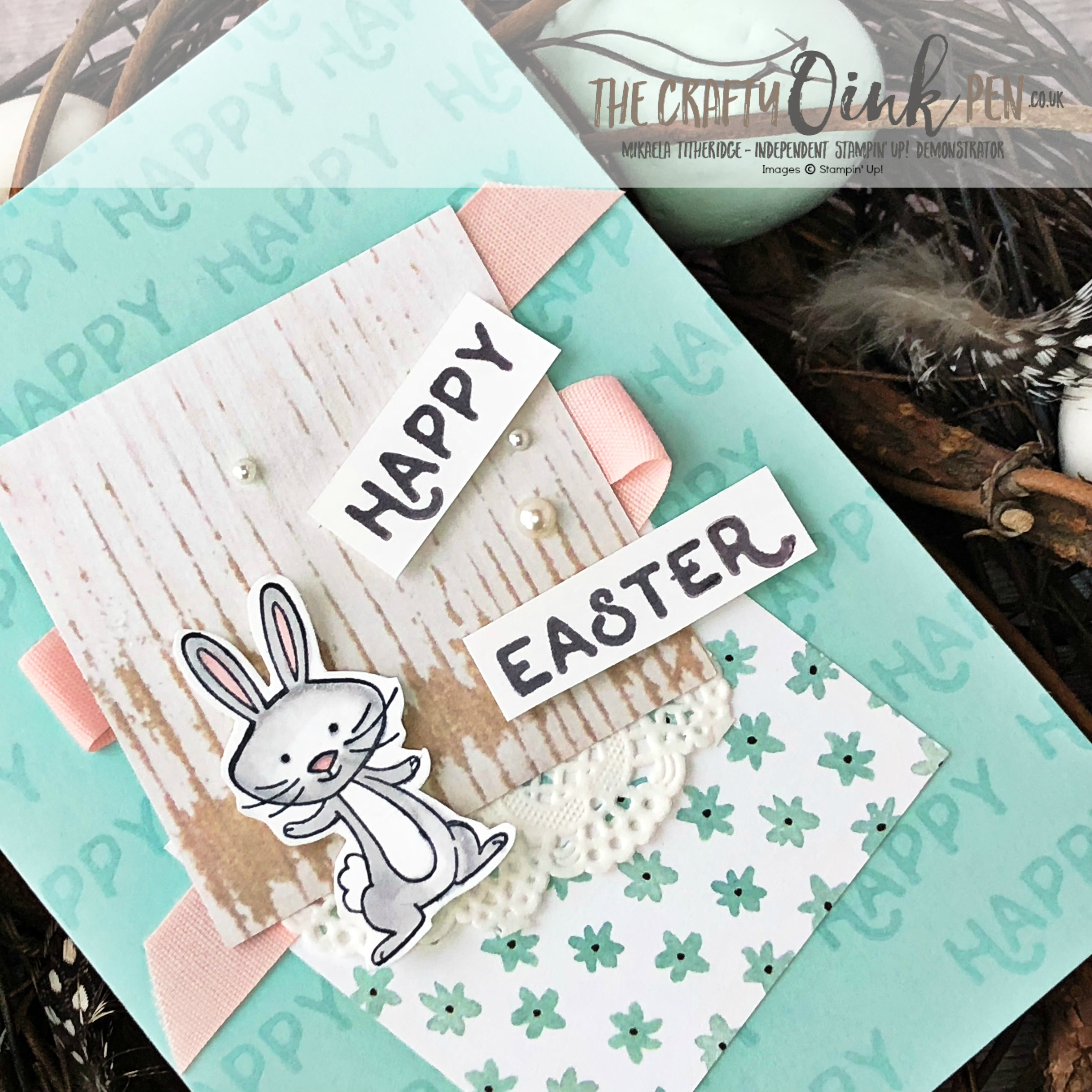 We Must Celebrate Easter with SUBA Easter Inspiration by Mikaela Titheridge, UK Independent Stampin' Up! Demonstrator, The Crafty oINK Pen. Supplies available through my online store 24/7