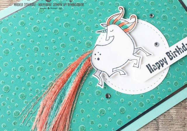 Magical Day for a Unicorn using FREE Stampin' Up! Products