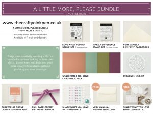 A Little More Please Bundle from the Share What You Love Product Suite by Stampin' Up! Available 1-31st May 2018 through Mikaela Titheridge, The Crafty oINK Pen, Independent Stampin' Up! Demonstrator's Online Shop 24/7