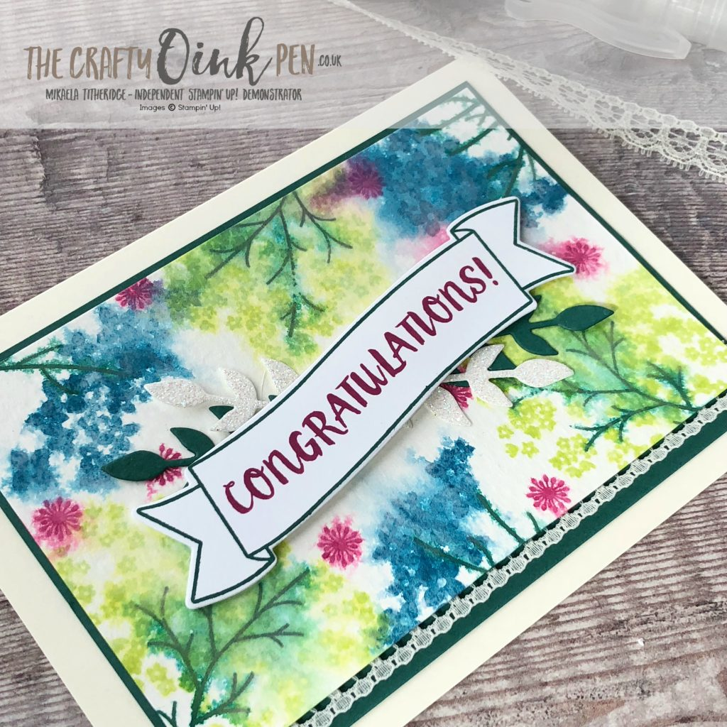 Let's Get Hopping Blog Hop Show their love for Very Vanilla and I take inspiration from a customer's top using Beautiful Bouquet and Watercolour paper by Mikaela Titheridge, #6UK Independent Stampin' Up! Demonstrator, The Crafty oINK Pen. Supplies available through my online store 24/7
