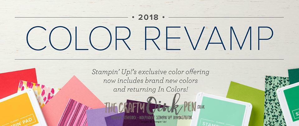 Stampin' Up! Colour Revamp 2018. Available from 1st June through my Online Shop Mikaela Titheridge, The Crafty oINK Pen. Independent Stampin' Up! Demonstrator