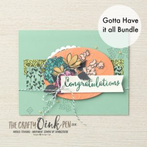 Gotta Have It All Bundle from the Share what you Love Suite by Stampin' Up! available from 1st May 2018 through Mikaela Titheridge, UK Independent Stampin' Up! Demonstrator, The Crafty oINK Pen. Shop Online 24/7 includes FREE Products