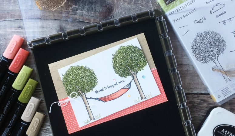 In the Trees with the Stampin' Up! Stamparatus tool