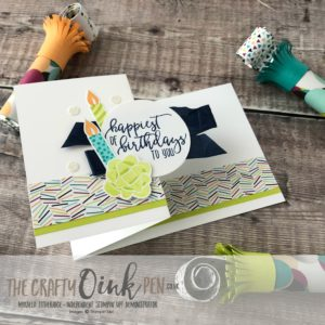 Picture Perfect Birthday Z Fold Card by Mikaela Titheridge, #6UK Independent Stampin' Up! Demonstrator, The Crafty oINK Pen. Supplies available through my online store 24/7