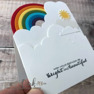In the clouds with Sunshine & Rainbows by Mikaela Titheridge, #6UK Independent Stampin' Up! Demonstrator, The Crafty oINK Pen. Supplies available through my online store 24/7